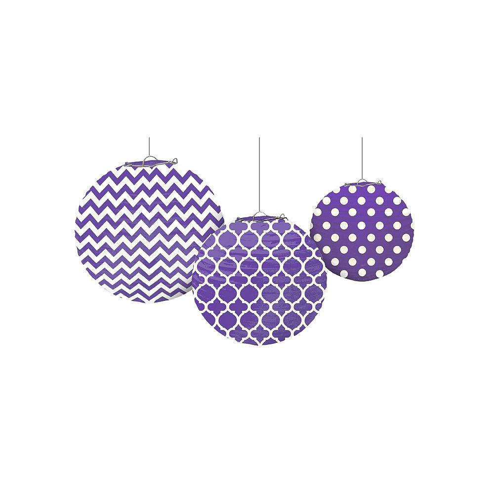 Purple Polka Dot & Chevron Decorating Kit Image #5