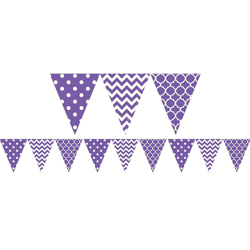 Purple Polka Dot & Chevron Decorating Kit Image #6