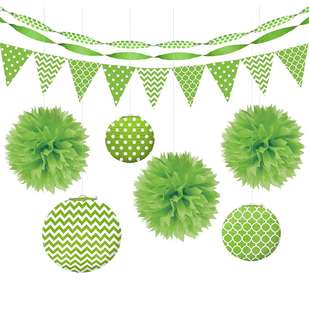 Kiwi Polka Dot & Chevron Decorating Kit Image #1
