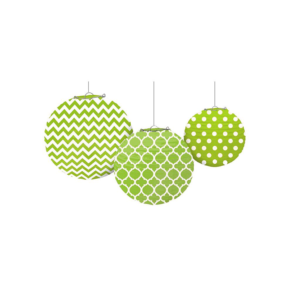 Kiwi Polka Dot & Chevron Decorating Kit Image #5
