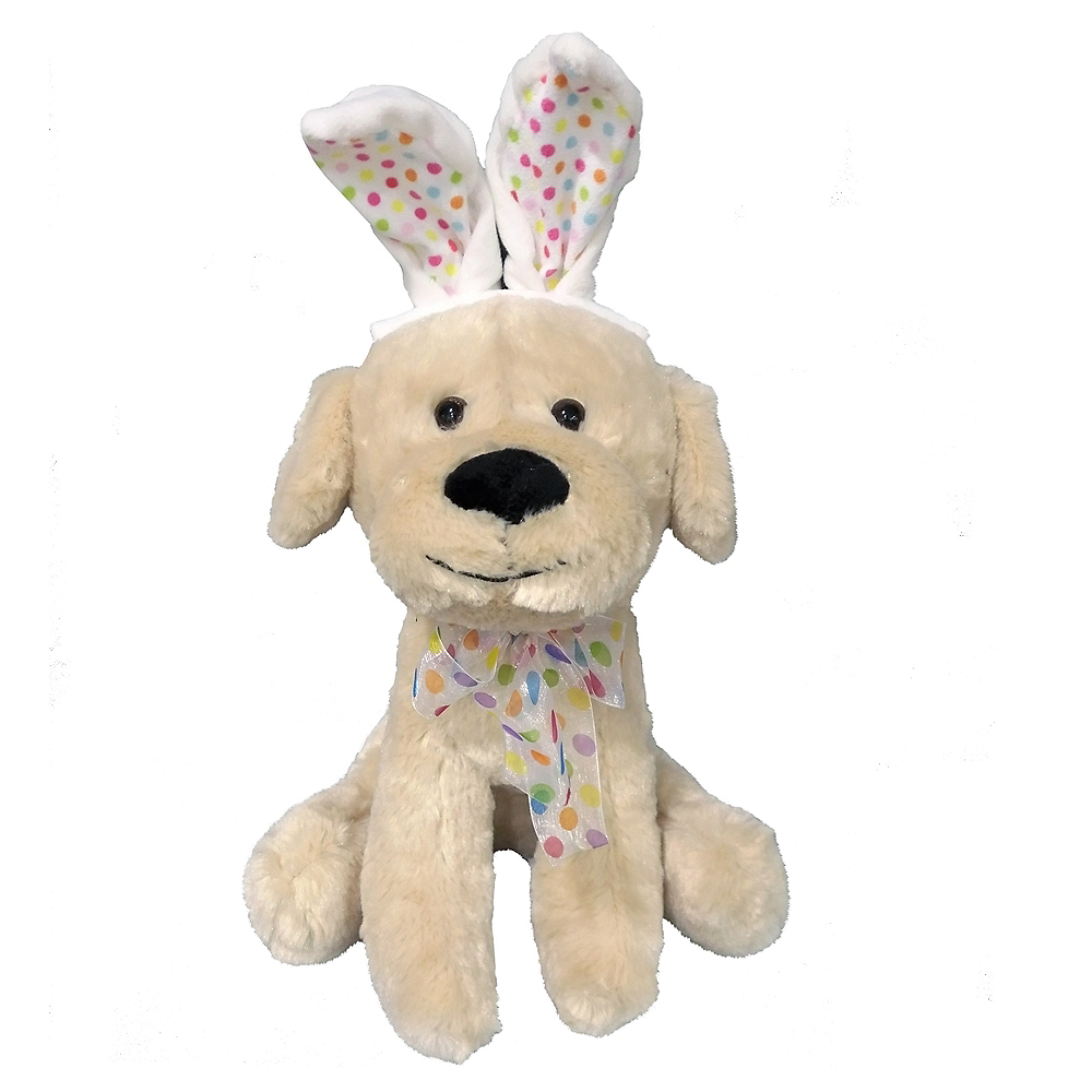 Dog Plush with Easter Bunny Ears Image #1