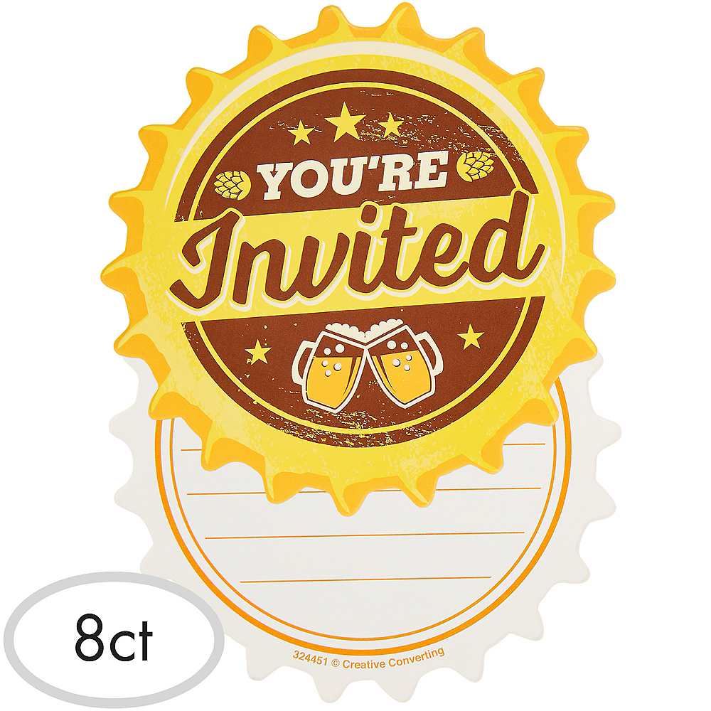 Cheers Beers Invitations 8ct Image 1