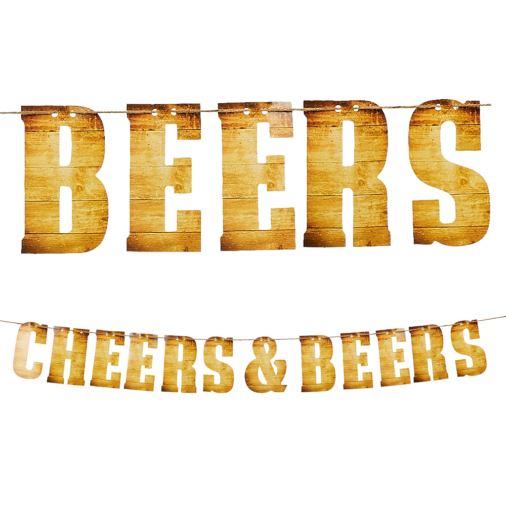 Cheers & Beers Letter Banner Image #1