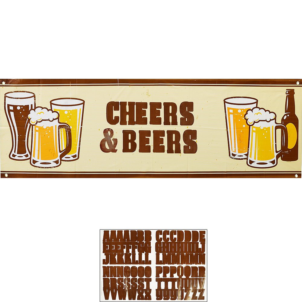 Cheers & Beers Personalized Banner Kit Image #1