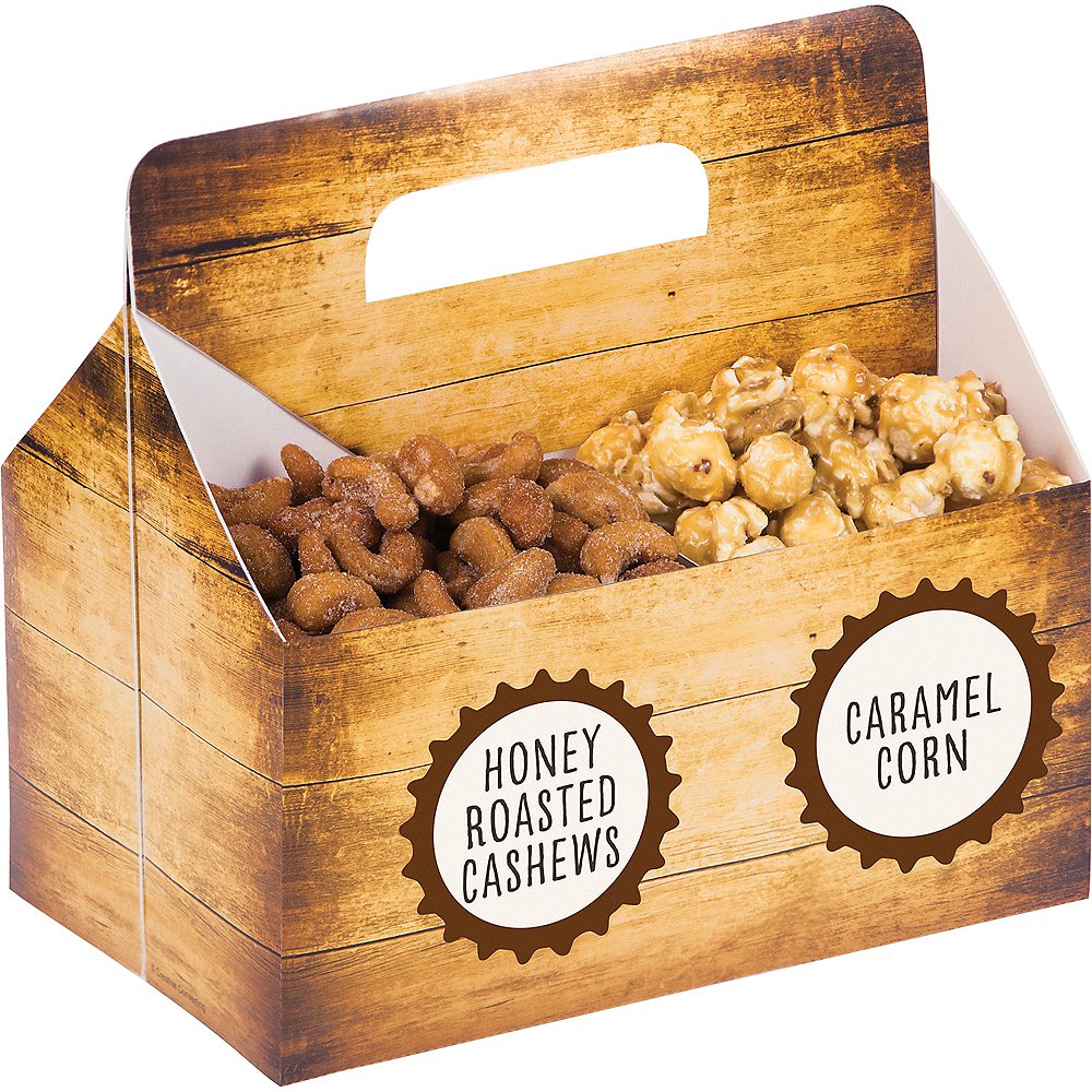 Bar Table Snack Caddy with Labels Image #1
