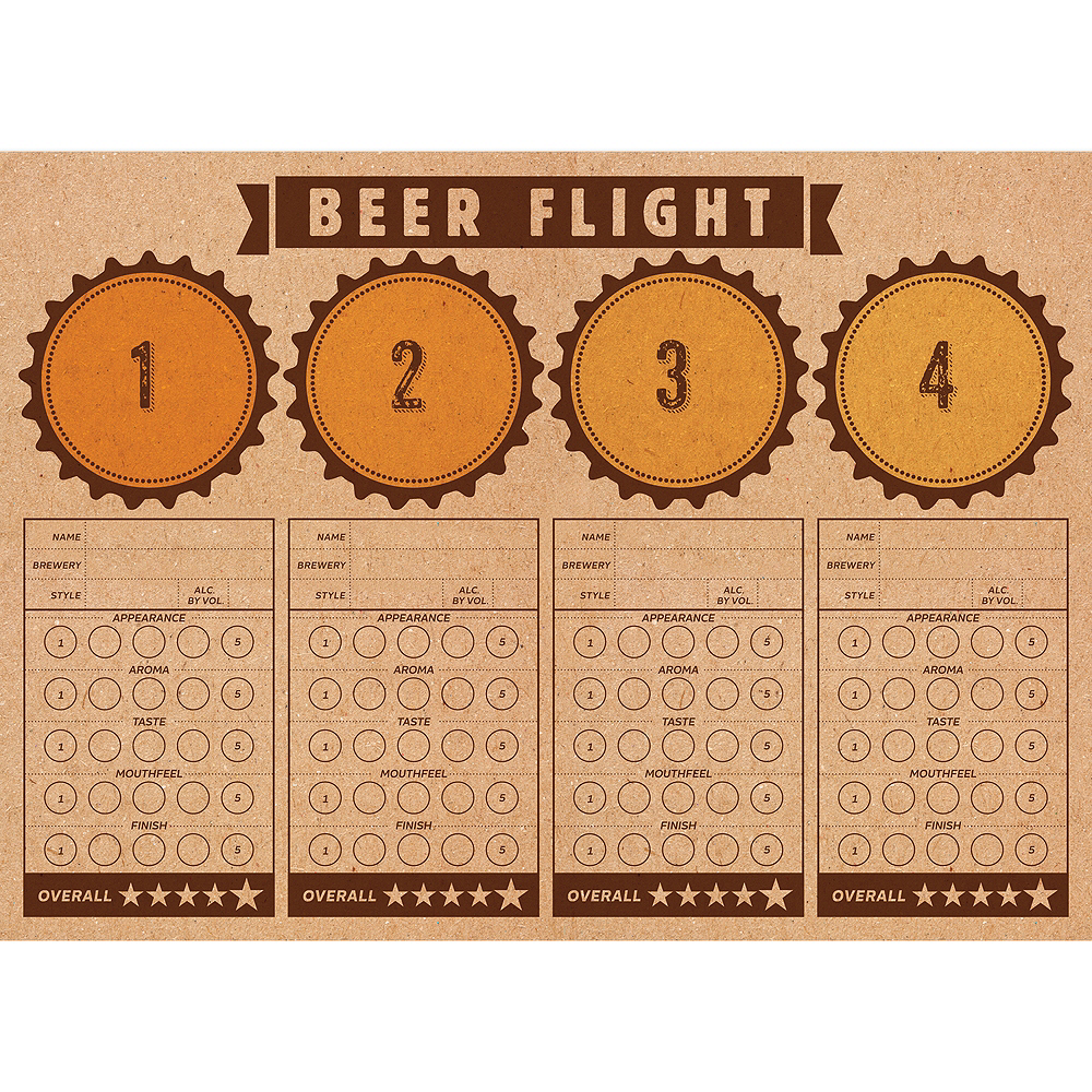 Beer Tasting Placemats 24ct Image #1