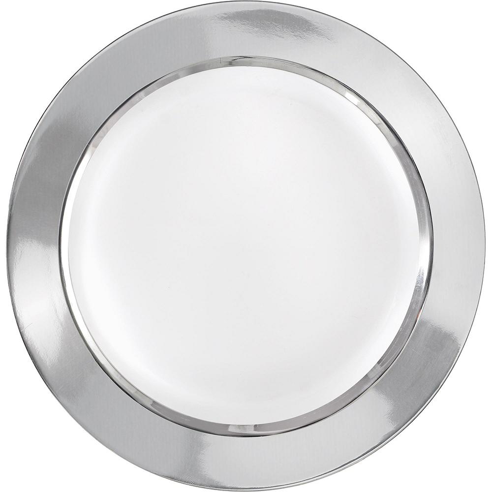 Premium Silver Border Tableware Kit for 20 Guests Image #3
