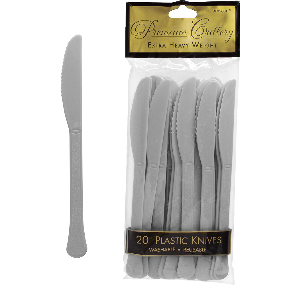 Premium White Silver-Trimmed Deluxe Tableware Kit for 20 Guests Image #7