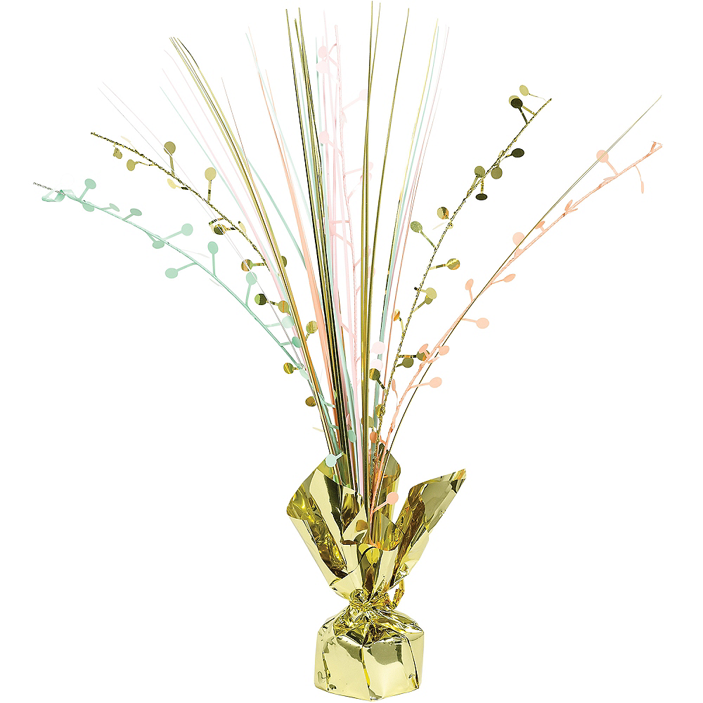 Pastel & Gold Spray Centerpiece Image #1
