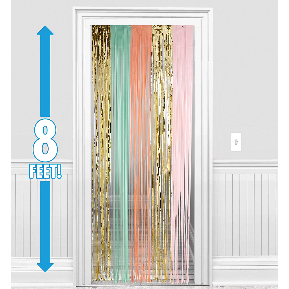 Pastel Gold Fringe Doorway Curtain 3ft X 8ft Party City