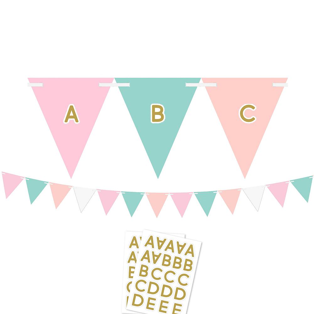 Pastel & Gold Pennant Banner Kit Image #1