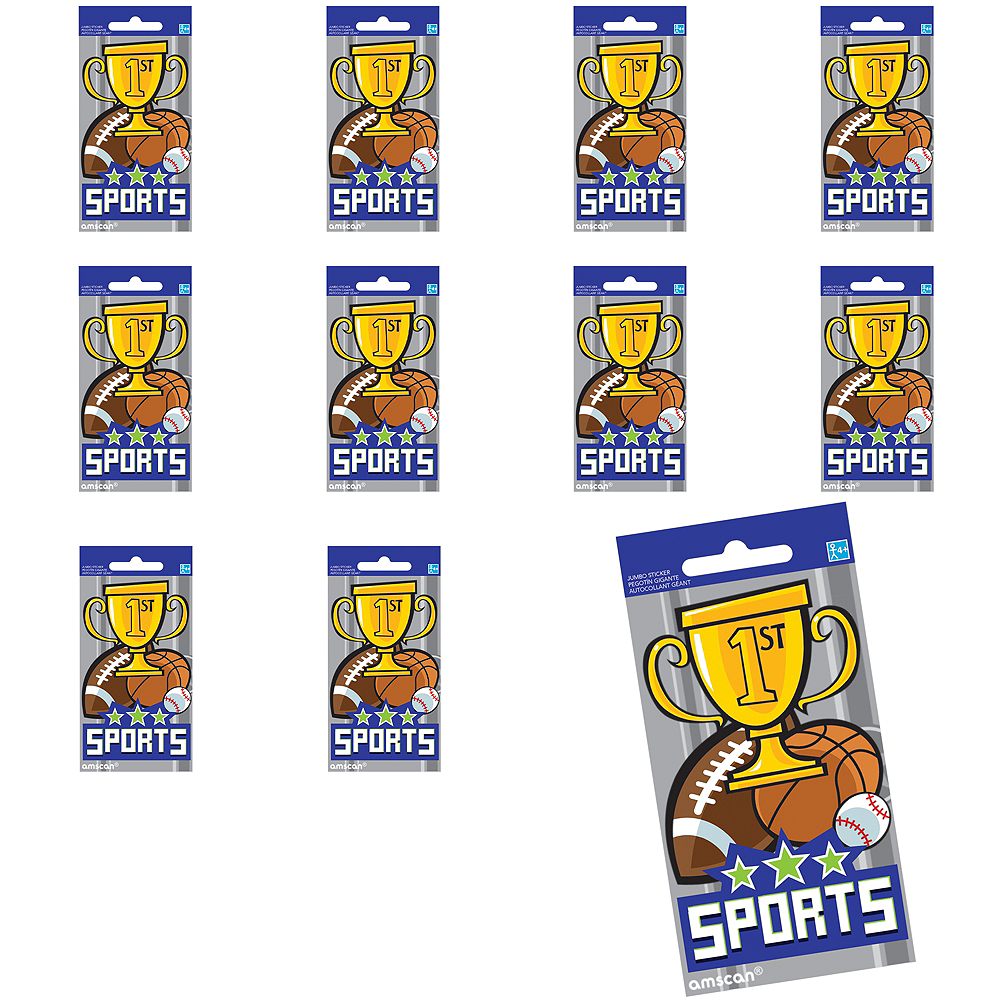 Jumbo Sports Stickers 24ct Image #1