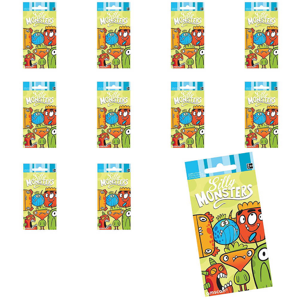 Jumbo Silly Monsters Stickers 24ct Image #1