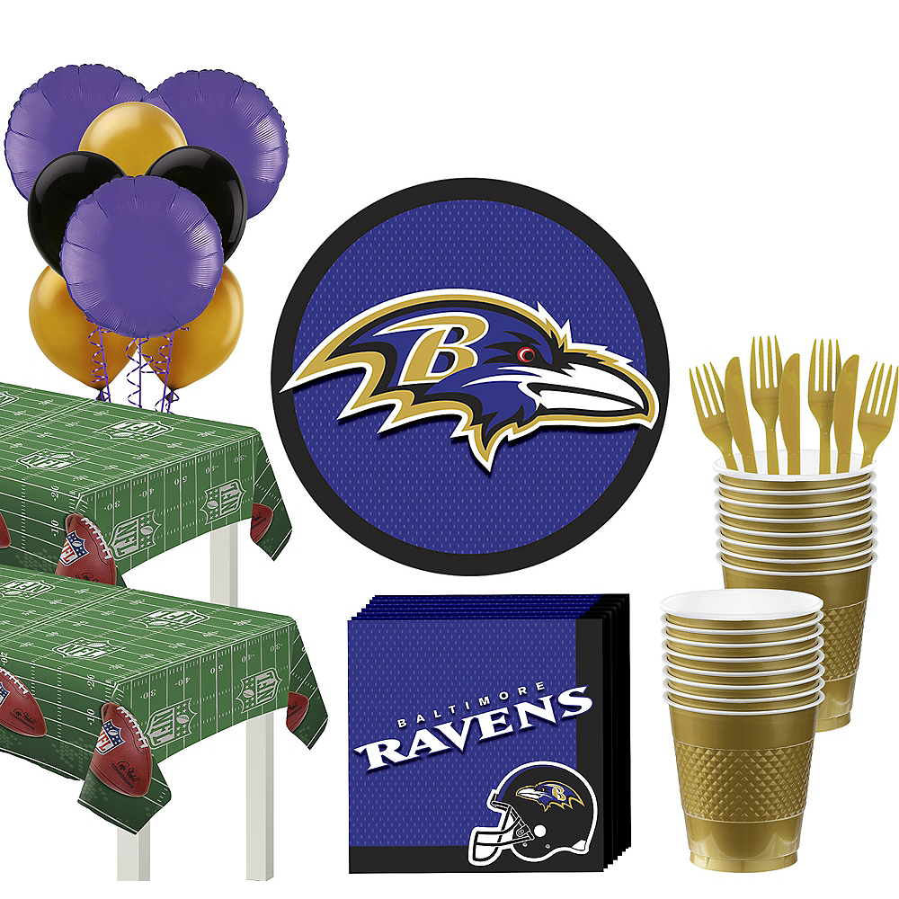 Super Baltimore Ravens Party Kit for 36 Guests Image #1