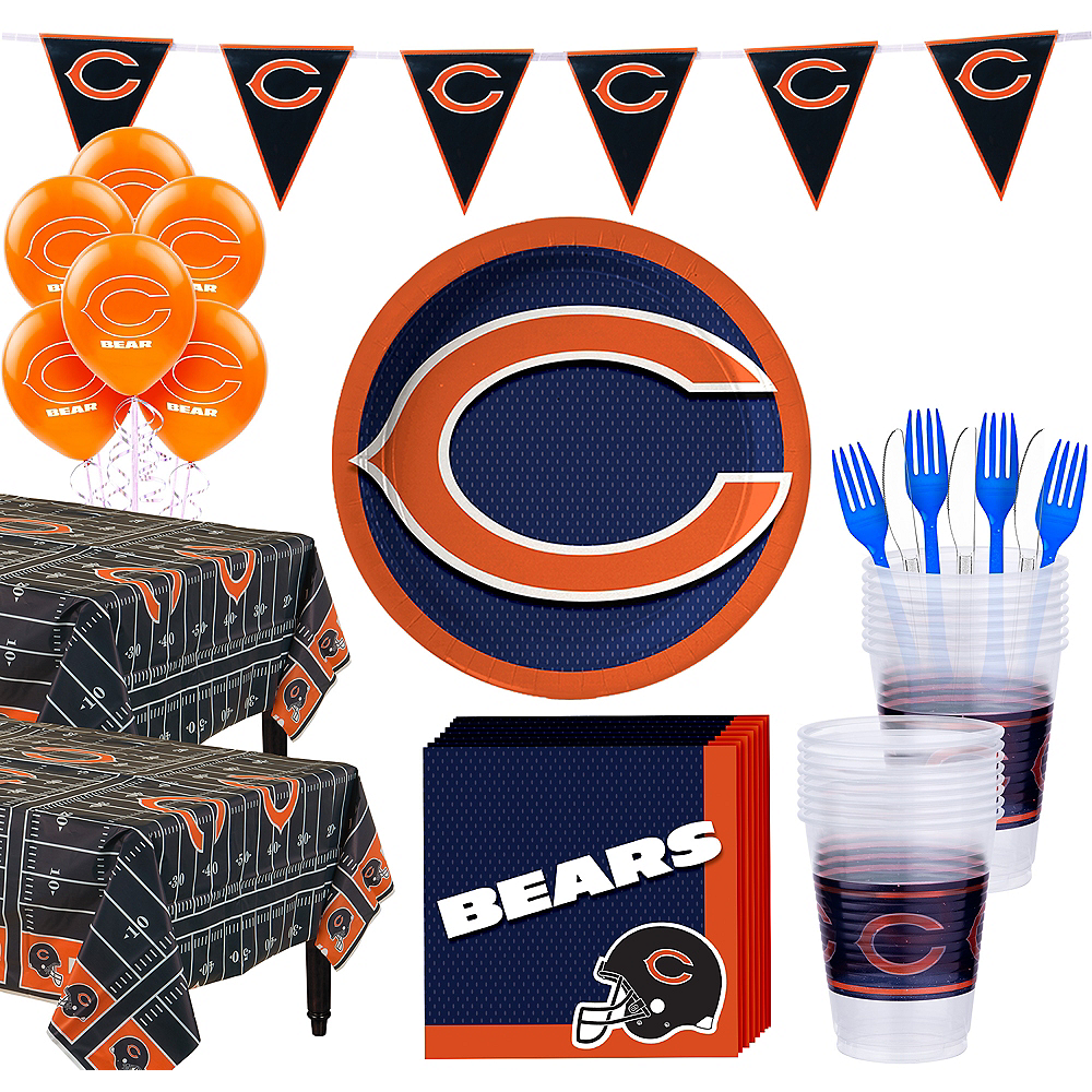 Super Chicago Bears Party Kit for 36 Guests Image #1