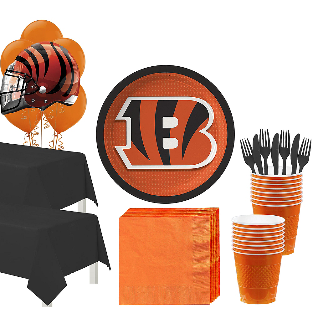 Super Cincinnati Bengals Party Kit for 36 Guests Image #1