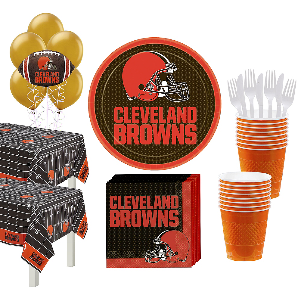 Super Cleveland Browns Party Kit for 36 Guests Image #1
