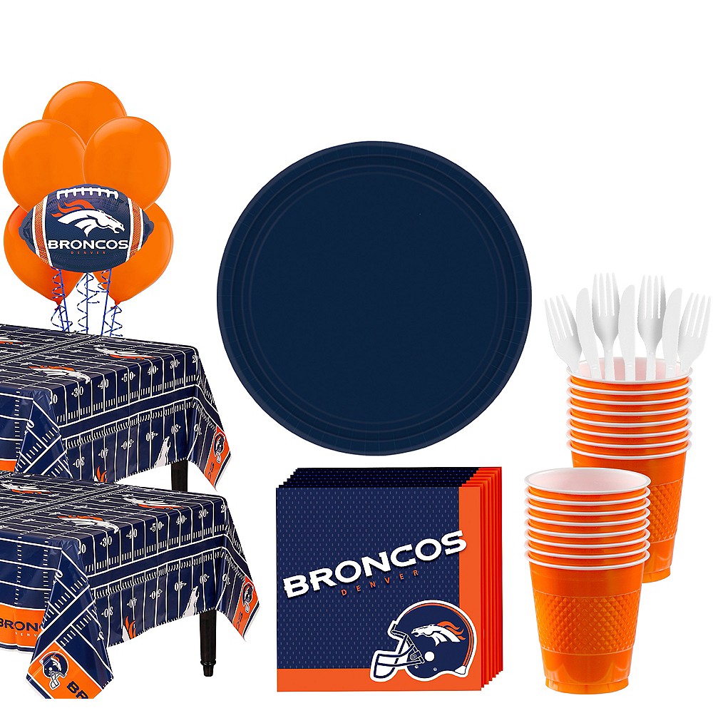 Super Denver Broncos Party Kit for 36 Guests Image #1