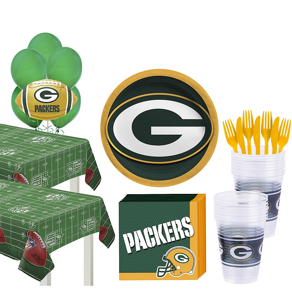 Nav Item for Super Green Bay Packers Party Kit for 36 Guests Image #1