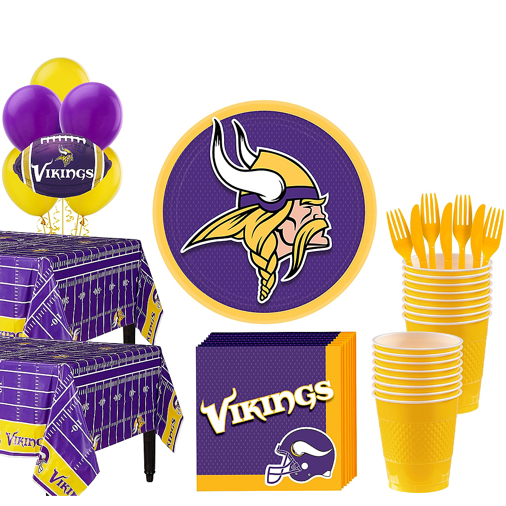 Super Minnesota Vikings Party Kit for 36 Guests Image #1