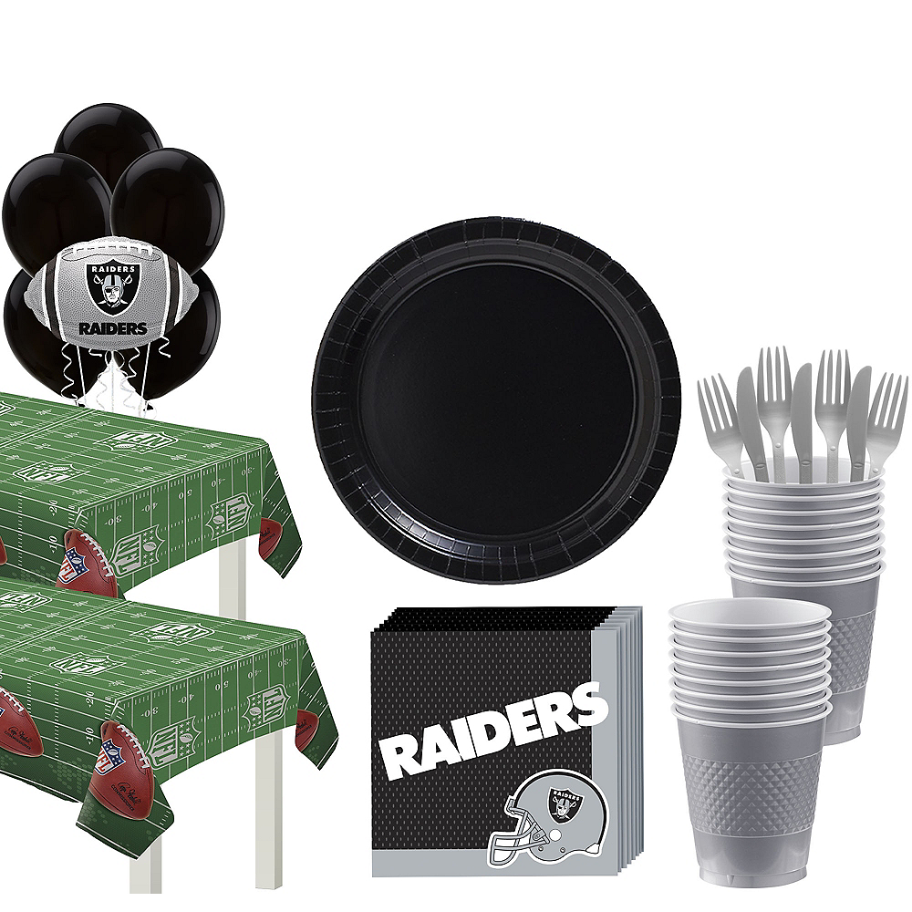 Super Oakland Raiders Party Kit for 36 Guests Image #1