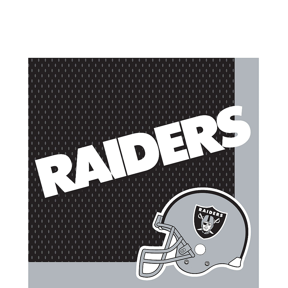 Super Oakland Raiders Party Kit for 36 Guests Image #3