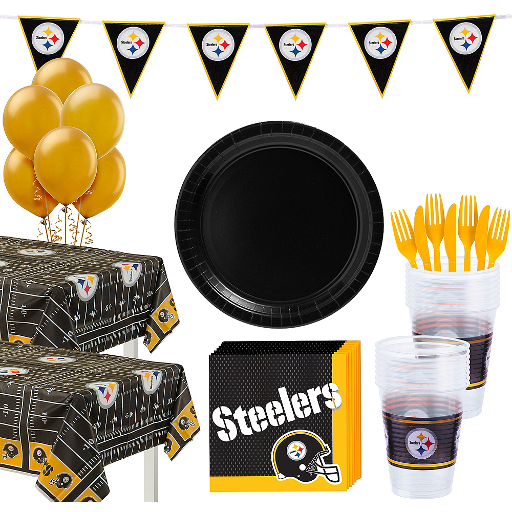 sports shoes 5493a 4b929 Super Pittsburgh Steelers Party Kit for 36 Guests
