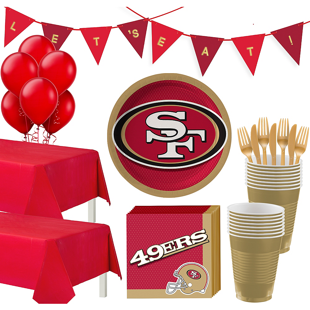 Super San Francisco 49ers Party Kit for 36 Guests Image #1
