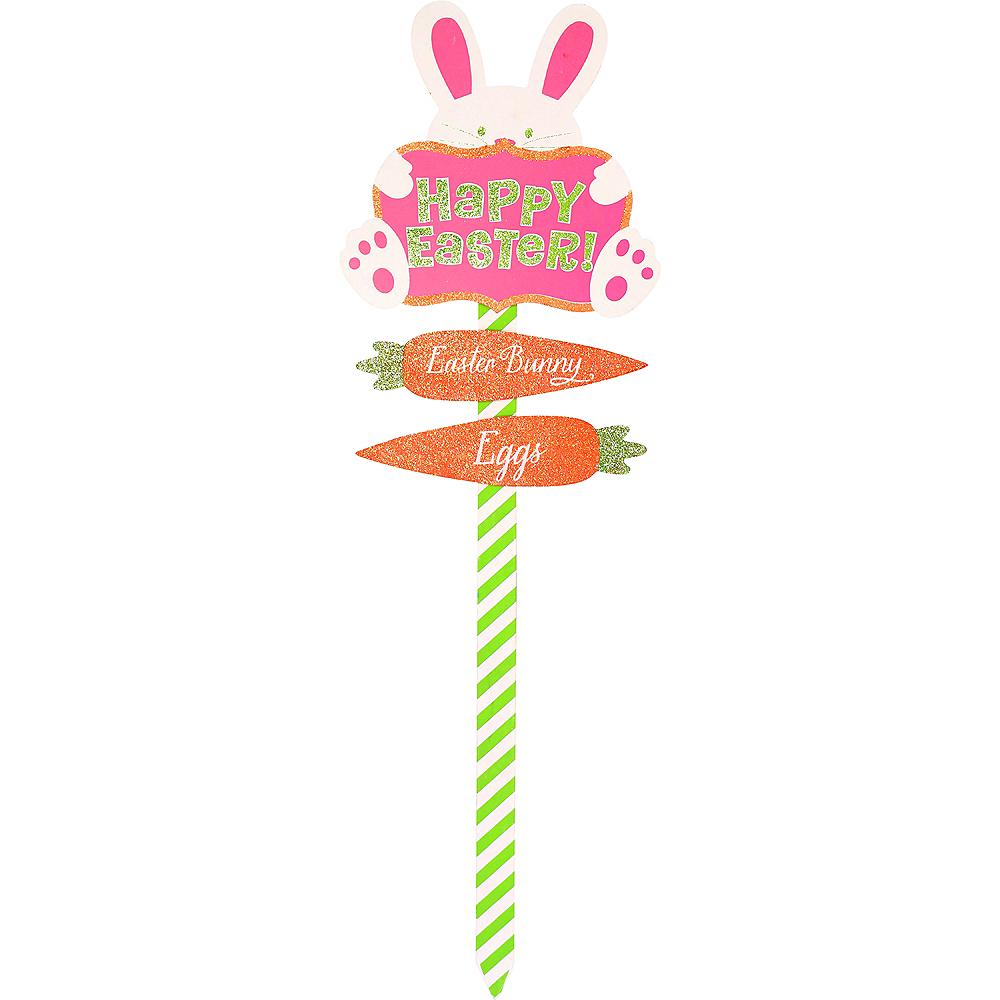 Glitter Happy Easter Yard Stake Image #1