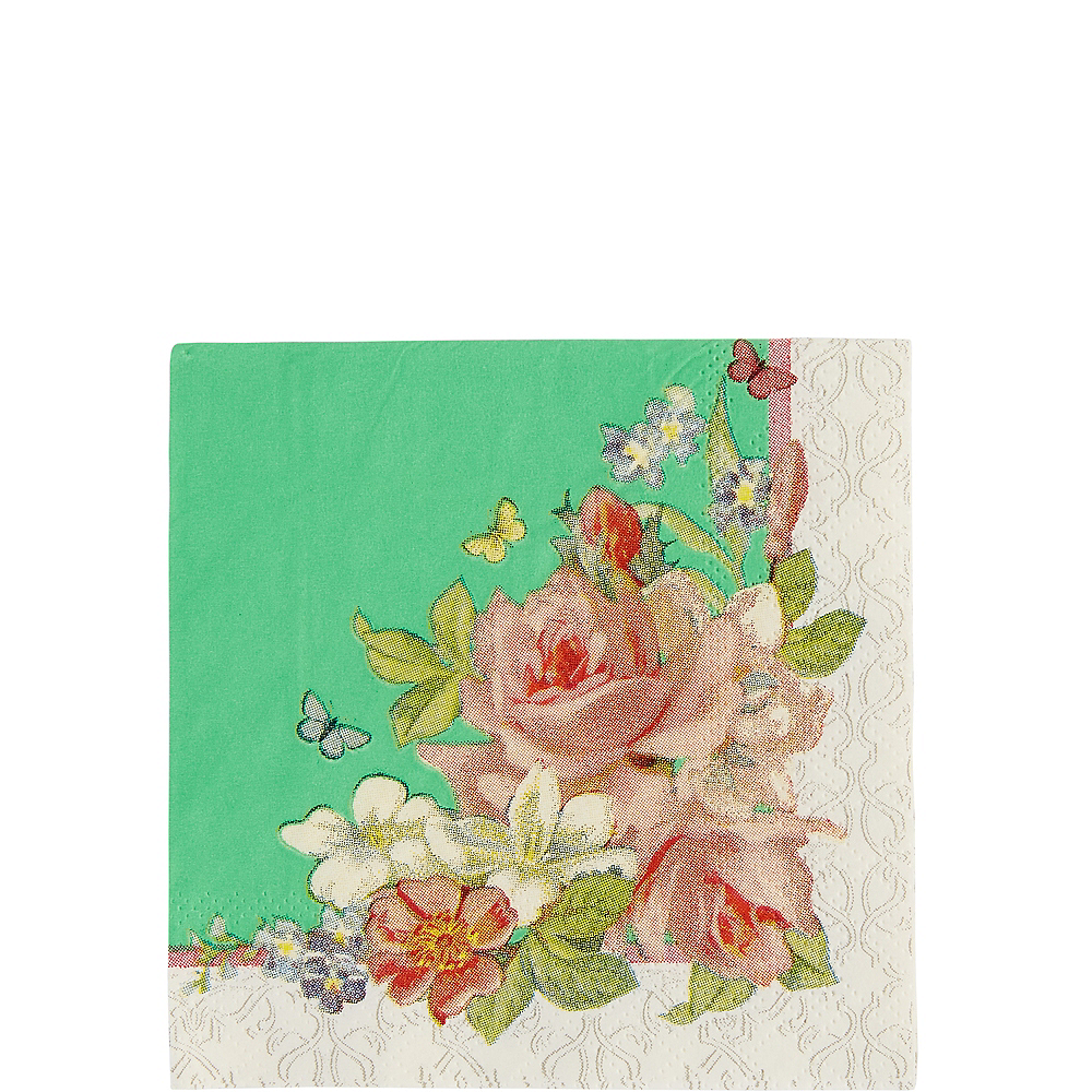 Floral Tea Party Beverage Napkins 16ct Image #1