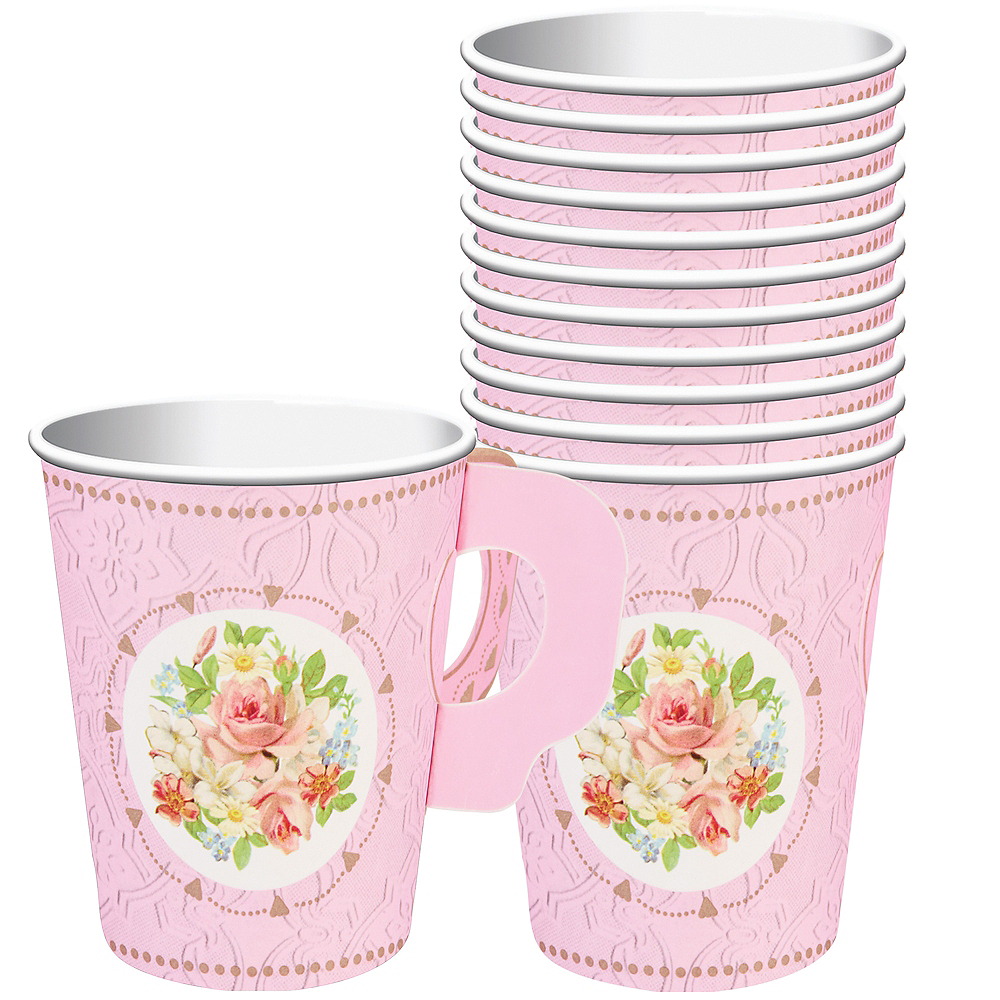 Floral Tea Party Cups with Handles 8ct | Party City
