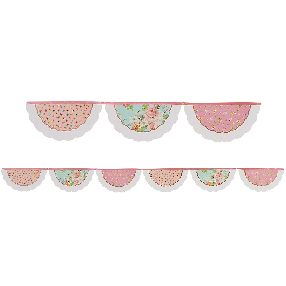 Floral Tea Party Pennant Banner Image #1