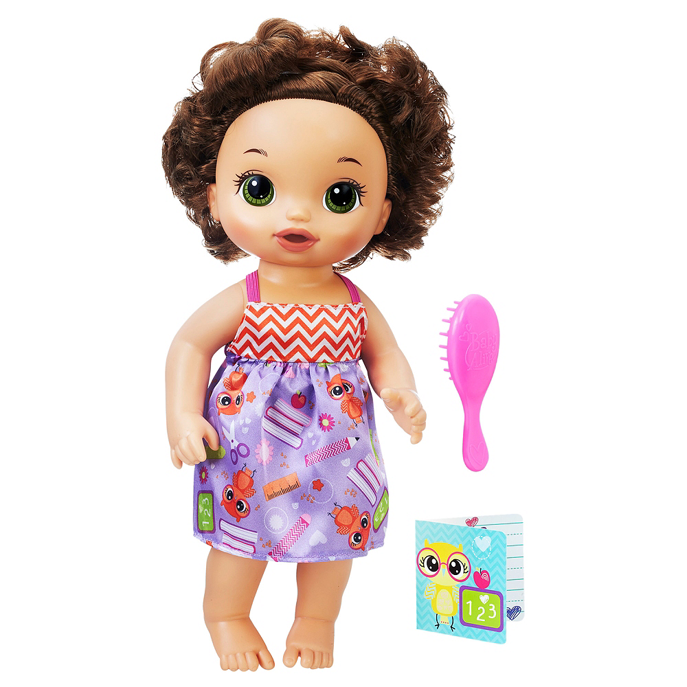 Brunette Ready for School Baby Doll 3pc Image #1
