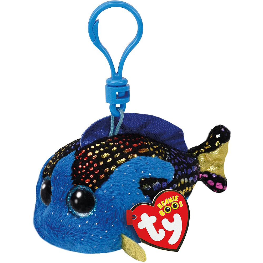 Clip-On Aqua Beanie Boo Fish Plush Image #1