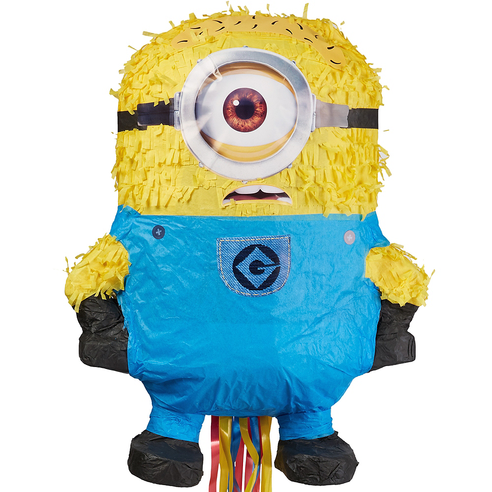 Pull String Carl Minion Pinata - Despicable Me 2 Image #1