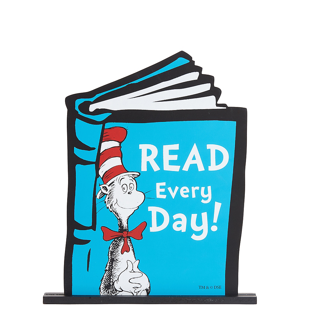 Cat in the Hat Table Sign - Dr. Seuss Image #1