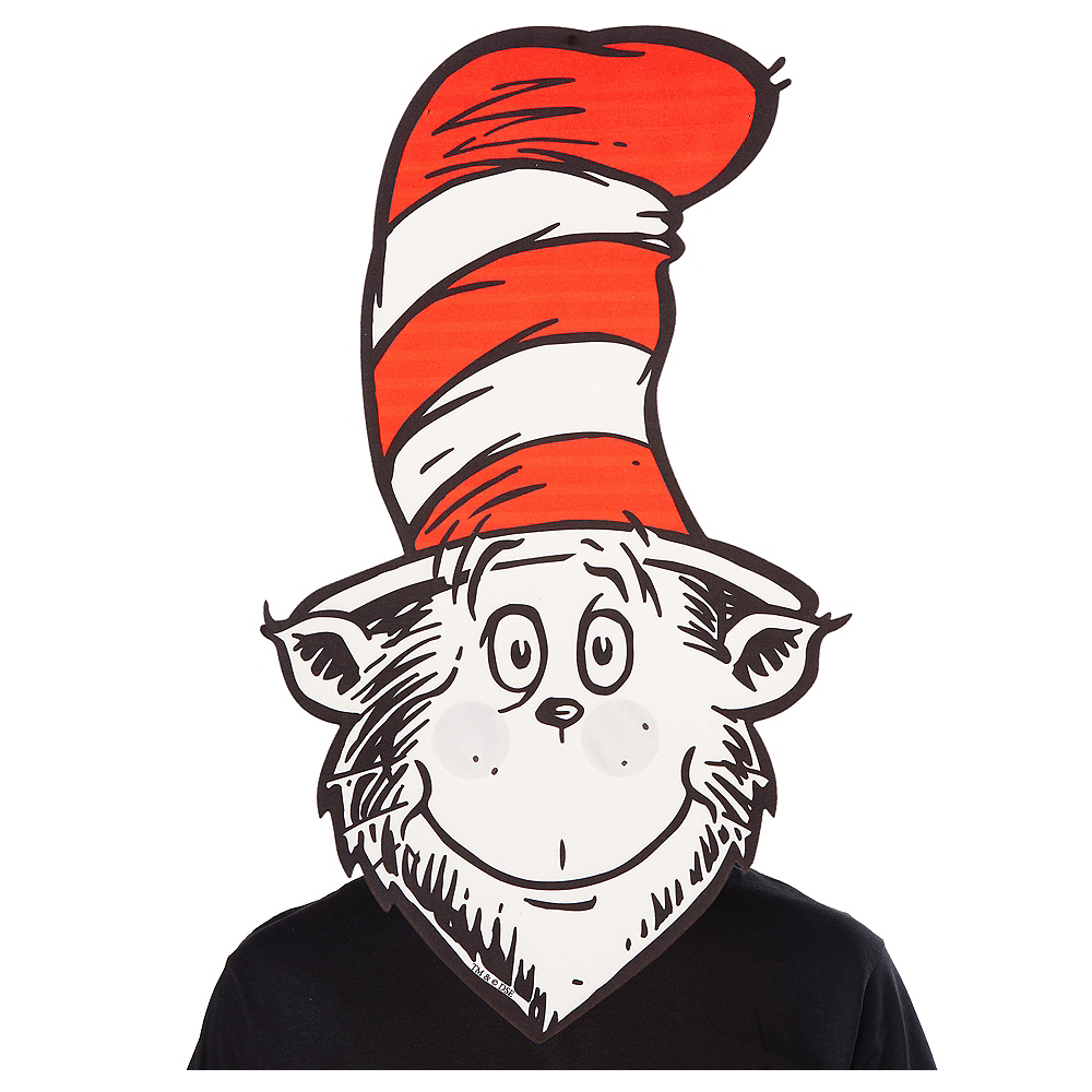 Oversized Cat in the Hat Mask 11 3/4in x 20 1/2in - Dr ...