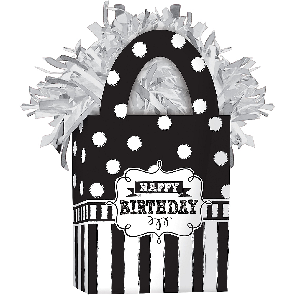 Chalkboard Birthday Balloon Weight Image #1