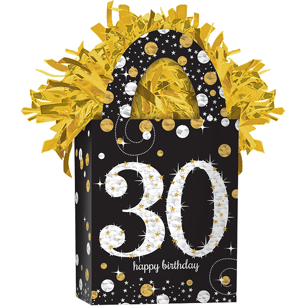 Prismatic 30th Birthday Balloon Weight - Sparkling Celebration Image #1