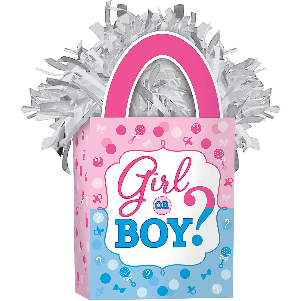 Girl or Boy Gender Reveal Balloon Weight Image #1
