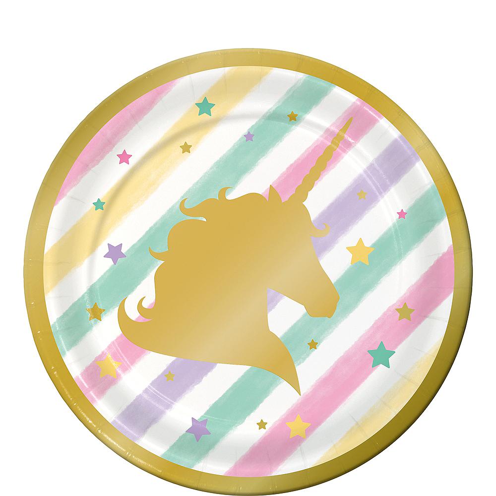 Sparkling Unicorn Dessert Plates 8ct Image #1