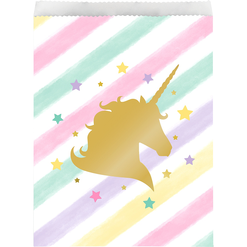 Sparkling Unicorn Treat Bags 10ct Image 1