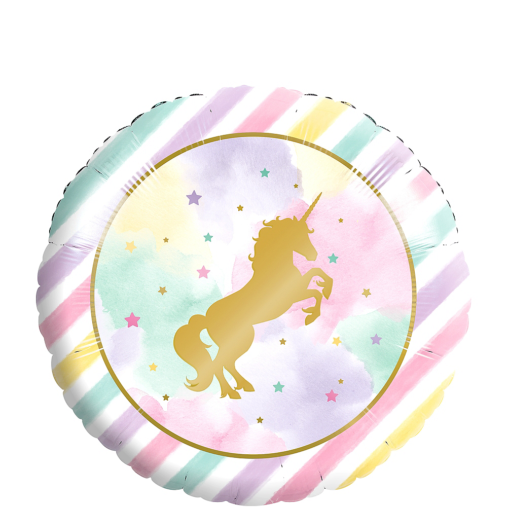 Sparkling Unicorn Balloon, 18in Image #1