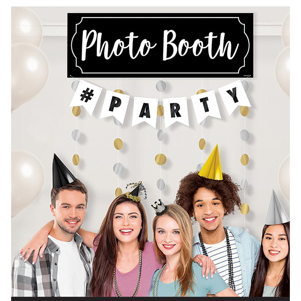 Metallic Polka Dots Photo Booth Backdrop Image #1