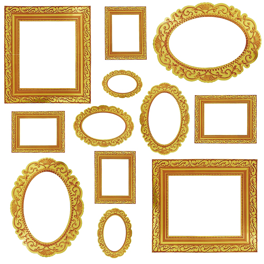 Gold Frame Photo Booth Props 12ct Image #1