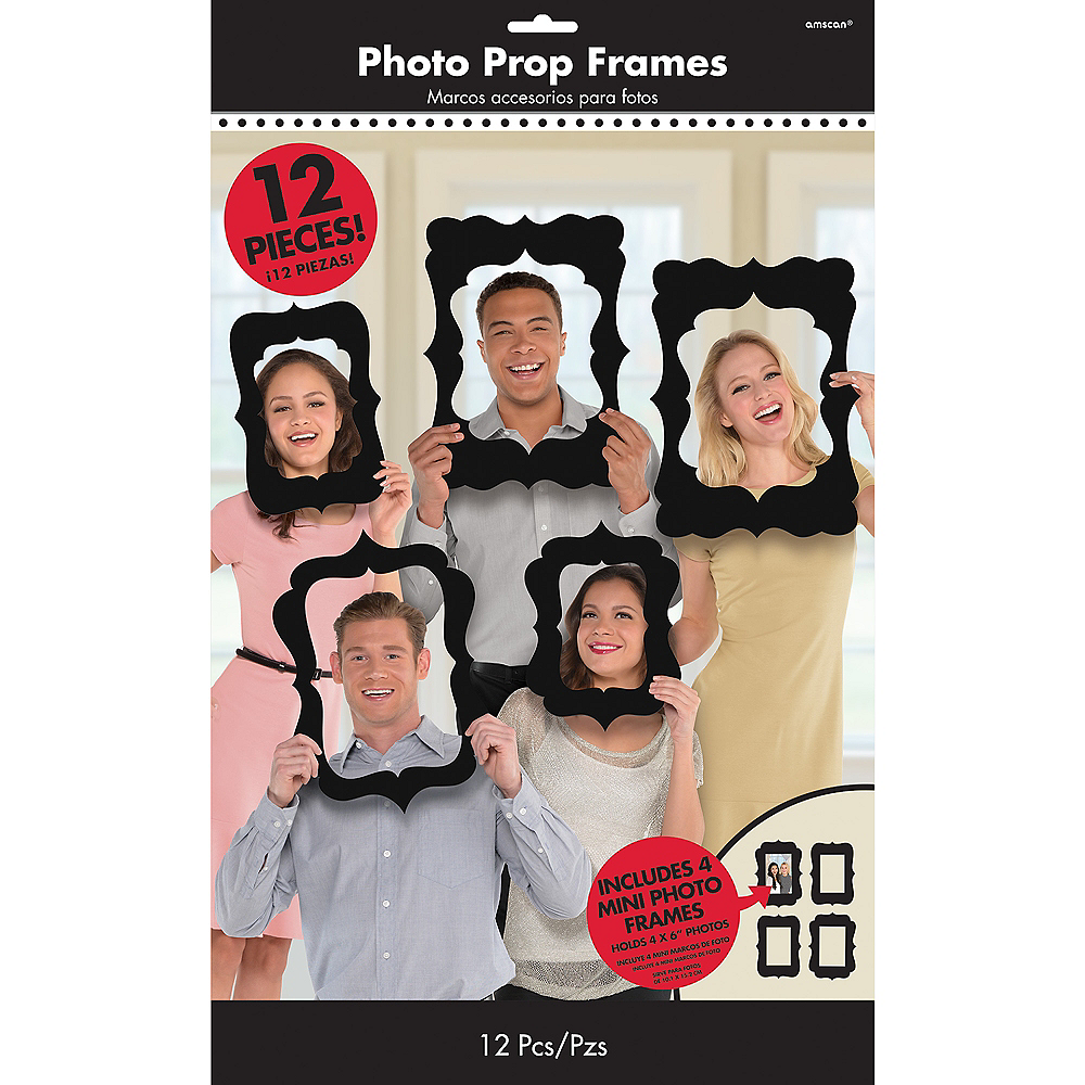 Black Scroll Frame Photo Booth Props 12ct Image #2