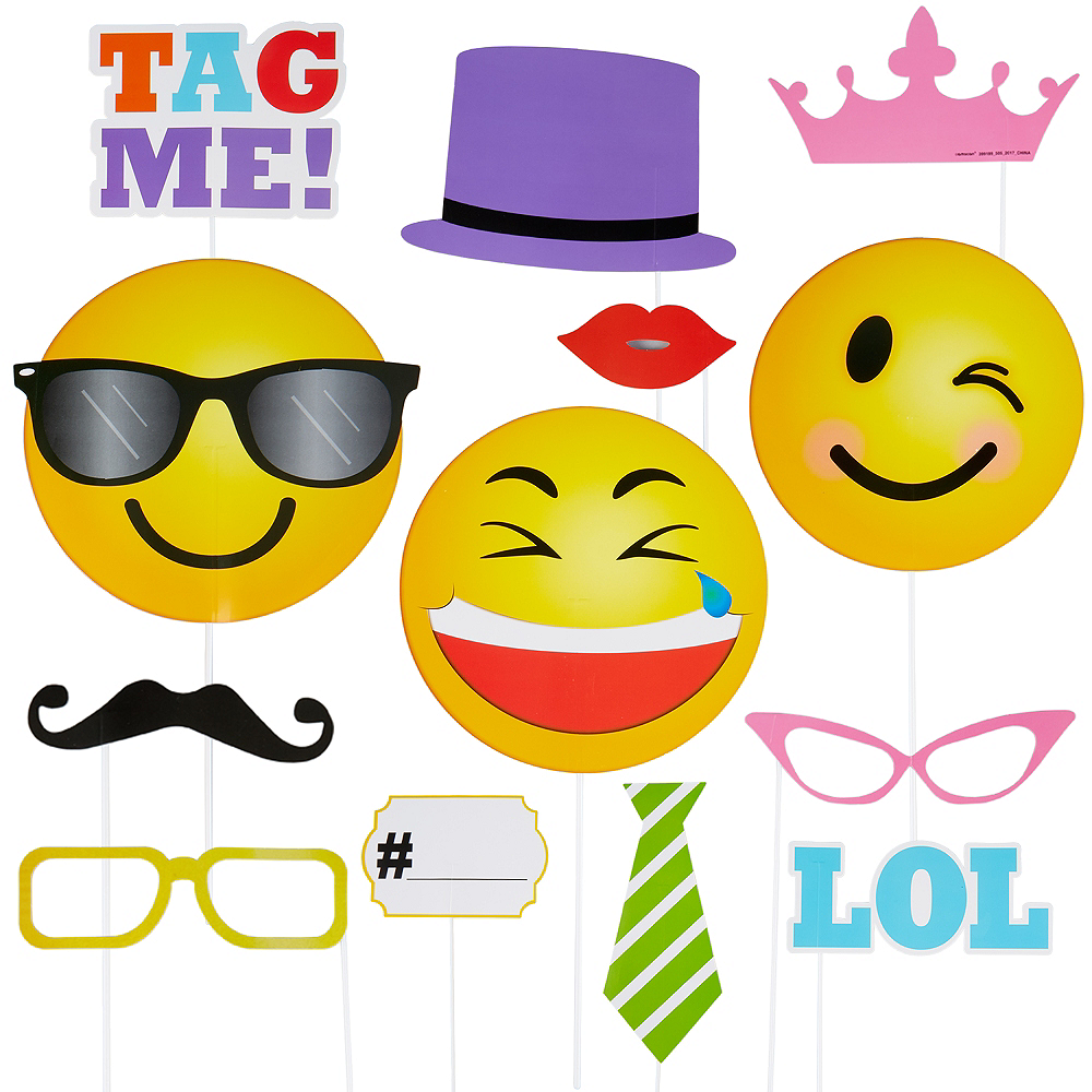 LOL Smiley Photo Booth Props 13ct Image #1