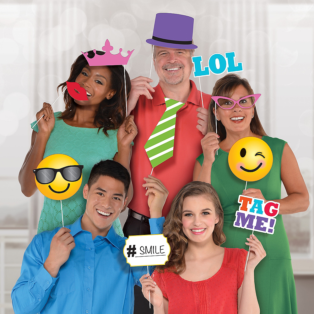 LOL Smiley Photo Booth Props 13ct Image #2