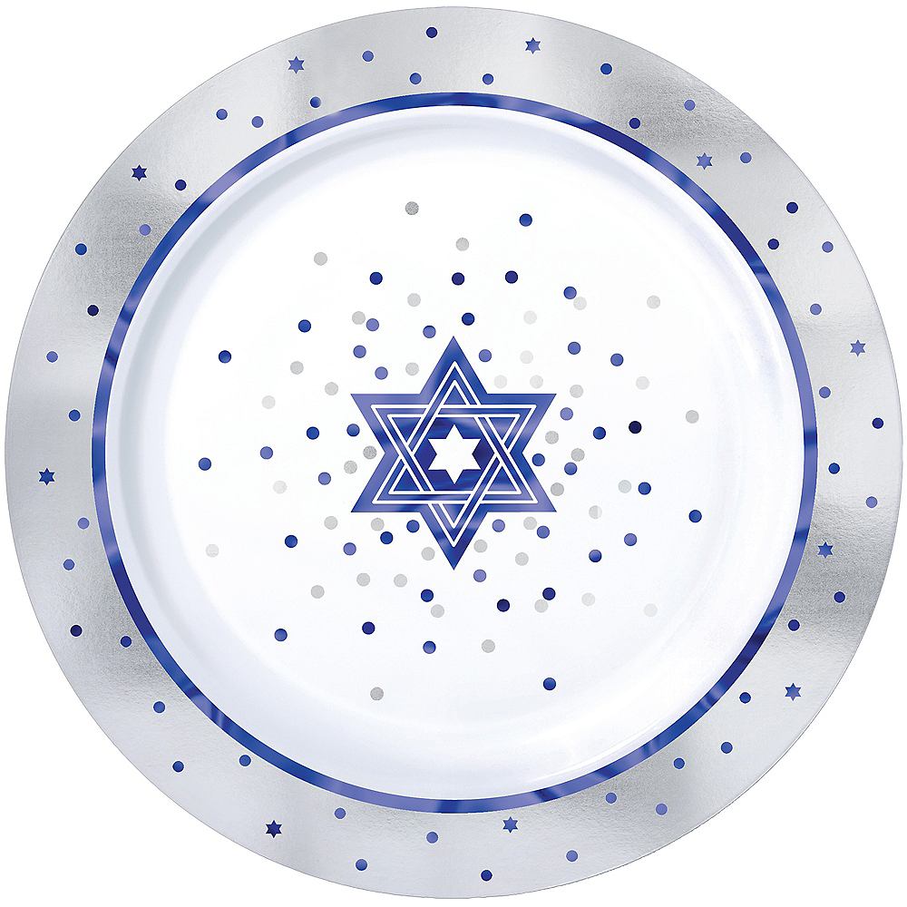 Happy Passover Premium Plastic Dinner Plates 10ct Image #1