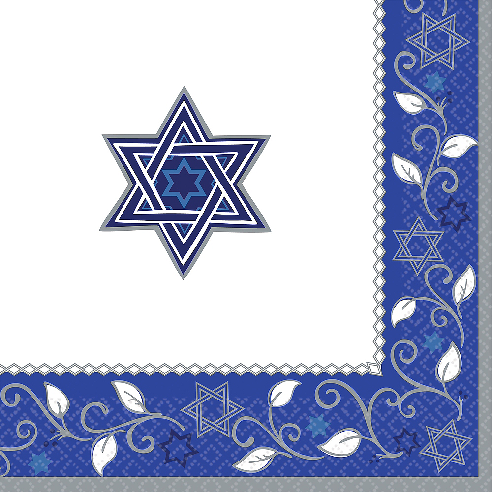 Joyous Holiday Passover Dinner Napkins 16ct Image #1